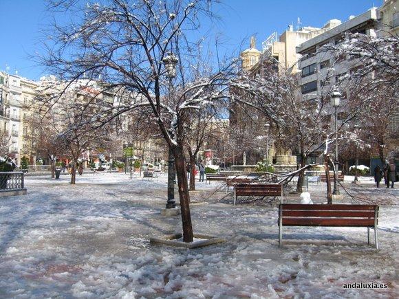 Nevadas en Granada 2013 - Puerta Real
