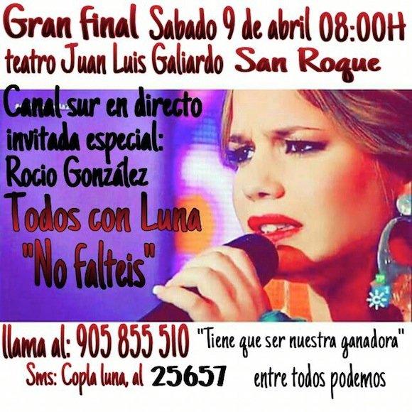 Cartel de apoyo a Luna García