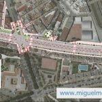Obras en la Avenida Jorge Luis Borges en la Finca La Palma