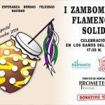 Zambomba flamenca solidaria en los baños del Carmen