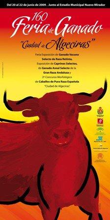 Cartel de la Feria de Ganado de Algeciras 2009
