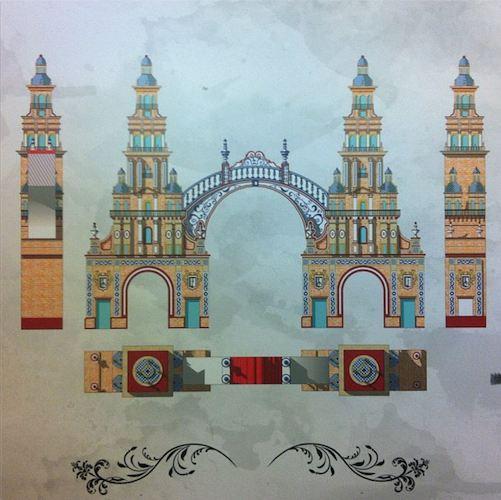 Diseño de la Portada de la Feria de Sevilla 2012