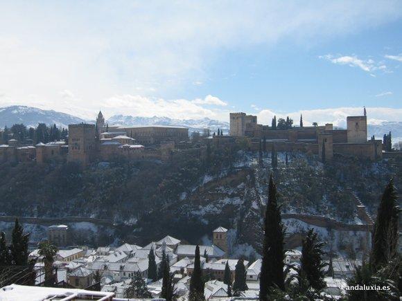 Alhambra de Granada nevada