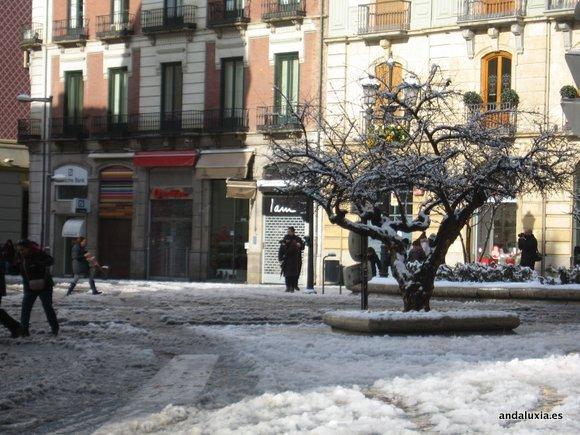 El Granaillo de Granada cubierto de nieve