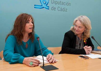 Eva Zamorano y Mercedes Colombo en la presentación de 'De Pura Sangre'. Foto de Carmen Romero