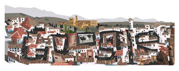Logotipo de Google dedicado al Milenio de Granada