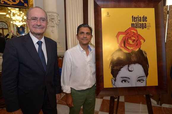 Alberto Villen y Francisco de la Torre en la presentación del cartel de la Feria de Málaga 2013