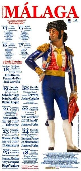 Cartel taurino de la feria de Málaga 2013