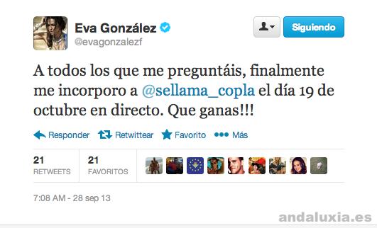 Eva Gonzalez vuelve a Se llama copla