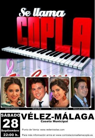 Concierto de Se llama copla en Vélez-Málaga