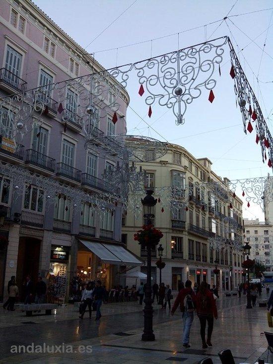 Calle Larios antes del Encendido del alumbrado de Navidad de Málaga 2013