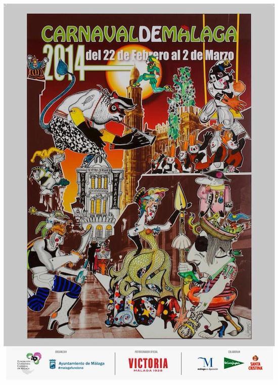 Cartel del Carnaval de Málaga 2014