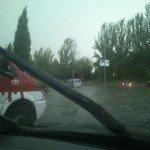 Tormenta de granizo en Granada