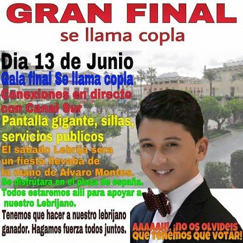 Cristian Coto finalista de Se llama copla