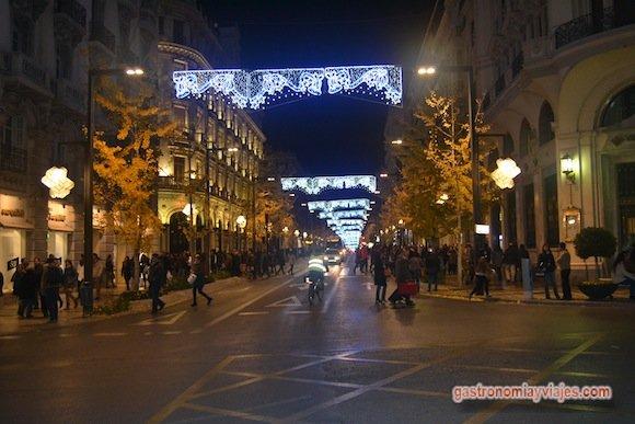 Alumbrado de Navidad Granada 2015 en la Gran Vía