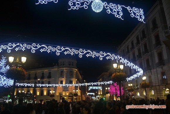 Alumbrado de Navidad 2015 en Puerta Real de Granada