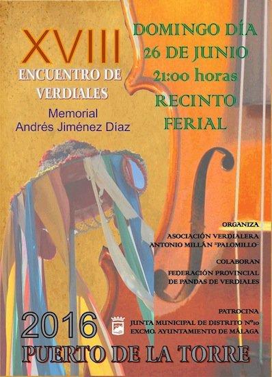 XVIII Encuentro de Verdiales. Memorial Andrés Jiménez Díaz.