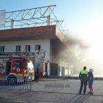 Incendio en la piscina municipal del Puerto de la Torre